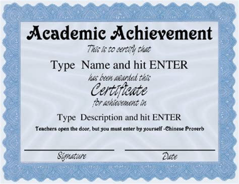 academic awards templates for free award certificate templates