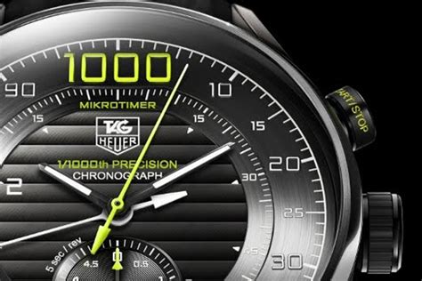 Tag Heuer Mikrotimer tag heuer mikrotimer is the world s fastest chronograph