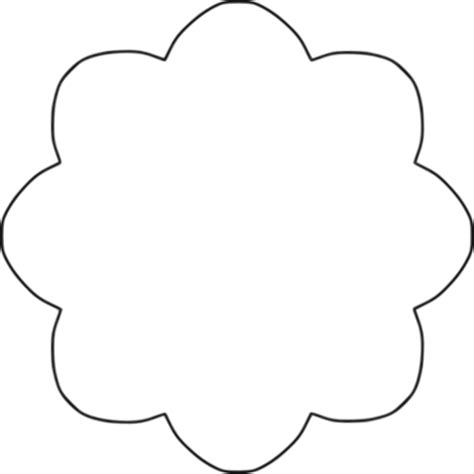 flower pattern for cut out cut out flower petal pattern clipart best