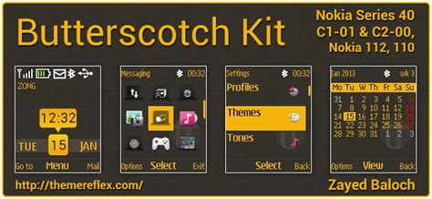 nokia c2 actor themes butterscotch kit theme for nokia c1 01 c2 00 110 112