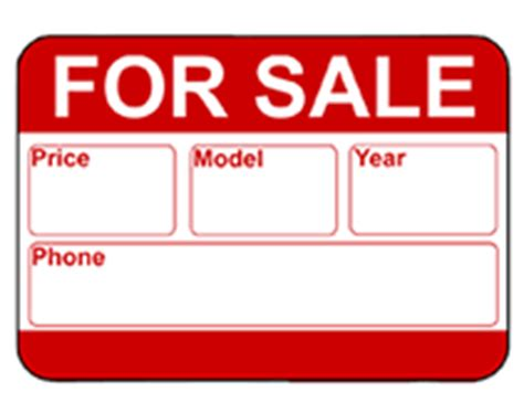 for sale template sale signs cars