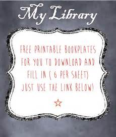 Free Printable Bookplates Templates by 2013 January