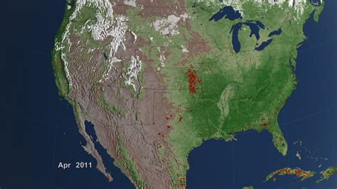 us map at from space nasa a look back at a decade of fires