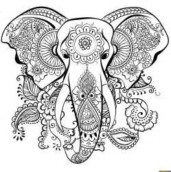 best elephant mandala coloring free printable online