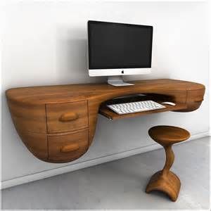 Unique Computer Desk Ideas Furniture Unique Custom Wood Wall Mounted Floating Computer Desk With Keyboard Tray Drawer And