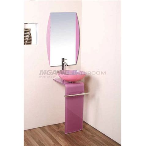 pink bathroom mirror 17 best images about glass sink vanity on pinterest