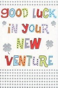 good luck    venture greeting card business
