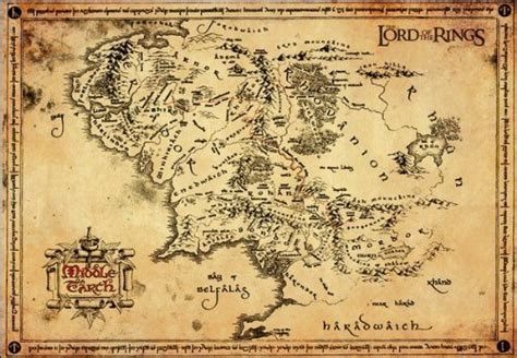 the lord of the rings middle earth map the journey to middle earth boo roo and tigger