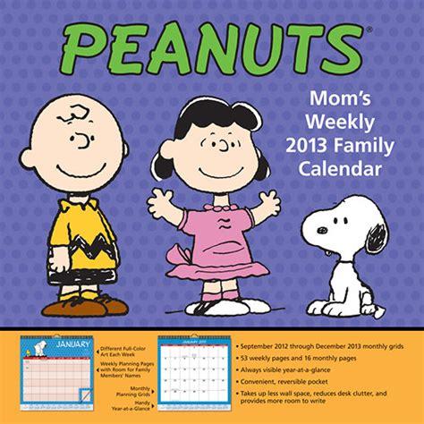 charlie brown desk calendar peanuts mom s weekly 2013 wall calendar calendars com