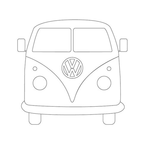 volkswagen van drawing cer outline the outline is made up of craft ideas