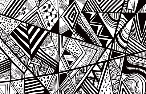 black pattern sketch black white abstract pattern vector line drawing graphic