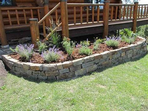 rock flower beds stone raised garden beds 2017 2018 best cars reviews