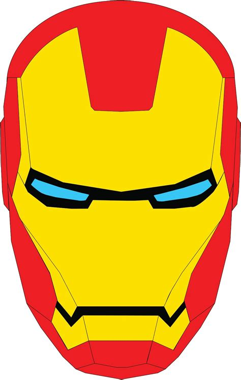 ironman helmet template ironman template clipart best