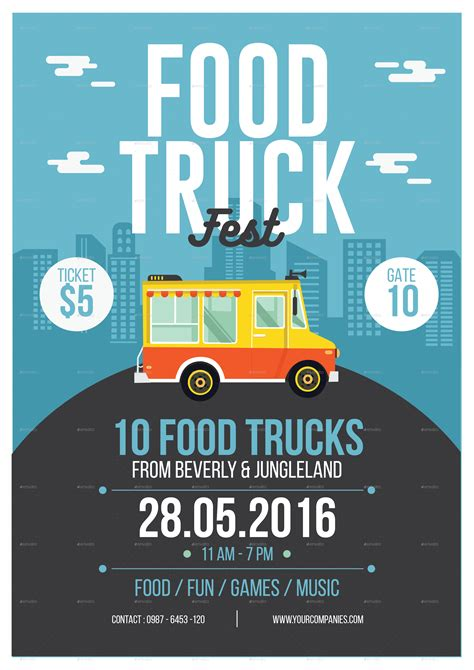 Food Truck Flyer By Tokosatsu Graphicriver Food Truck Flyer Template