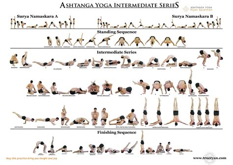 ashtanga poses chart the ashtanga intermediate series chart free