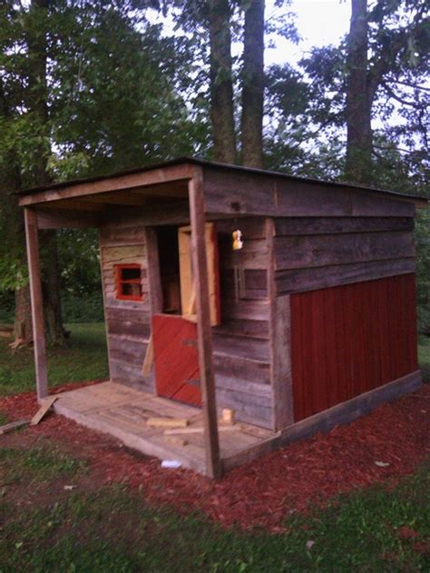 pallet play house pallet playhouse for kids from reclaimed wood pallet