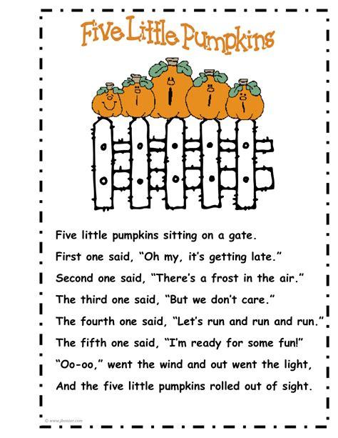 coloring pages 5 little pumpkins mrs bonzer s poetry folders