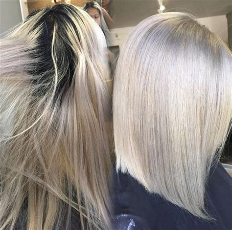 wash hair after balayage highlights root touch up level 2 to silver ash blonde news