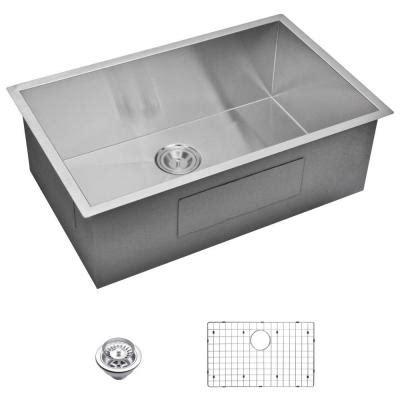satin finish stainless steel kitchen sinks water creation undermount zero radius stainless steel
