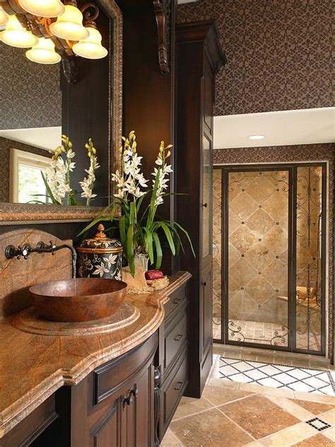 mediterranean bathrooms mediterranean bathroom design home decor pinterest
