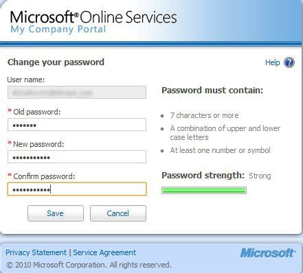 reset microsoft online services password computrain decision consulting faq