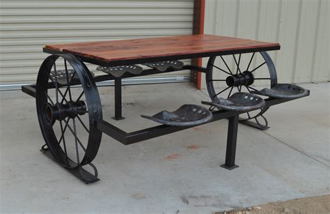 wagon wheel bench seat sycamore creek creations