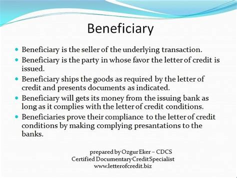Beneficiary Credit Letter To Letter Of Credit Presentation 4 Lc Worldwide International Letter Of Credit