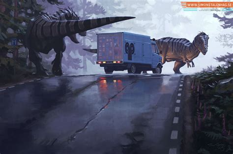 film robot dinosaurus quot missing person quot by simon st 229 lenhag art