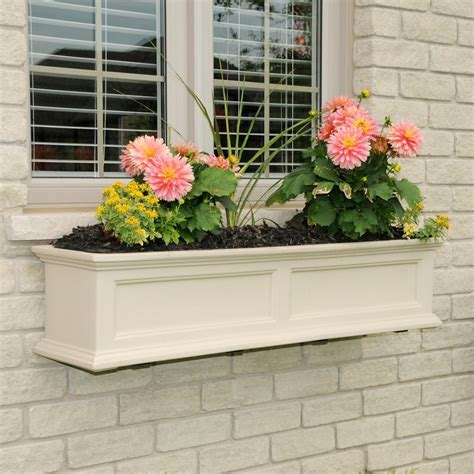 vinyl window boxes planters mayne 12 in x 72 in vinyl window box 4826w