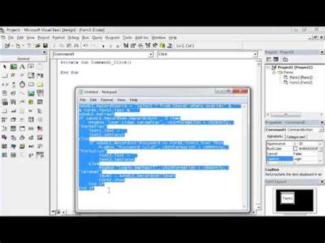 membuat form login vb6 dan mysql membuat form login dengan vb6 dan db mysql part 3 vb 6 0