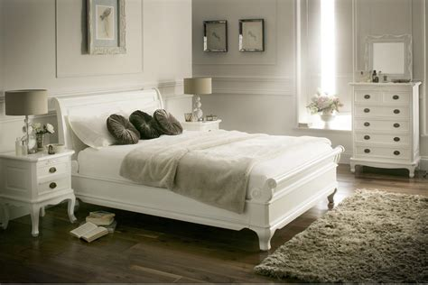 bed white wood la louvier white wooden sleigh bed painted wood wooden beds beds bedroom