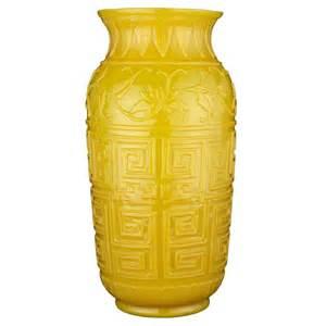 Big Yellow Vase Large Yellow Glass Vase At 1stdibs