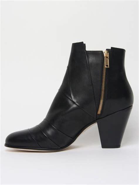 mens leather cuban heel boots gareth pugh mens nappa leather cuban heel boot in black