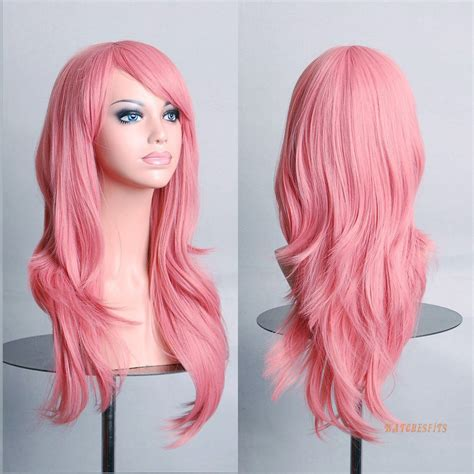 ebay wigs hot long pink curly wavy cosplay party wig gift ebay