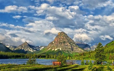 wallpaper hd 1920x1080 usa wallpaper glacier national park lake mountain clouds