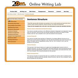 sentence patterns purdue owl writing pearltrees