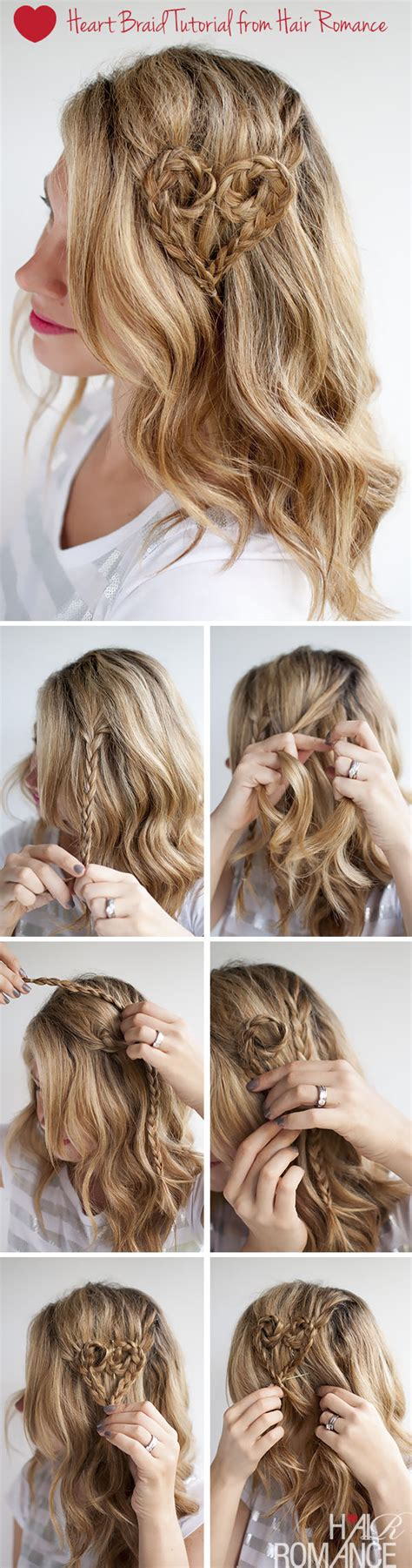 diy hairstyles we heart it valentine s day hairstyle tutorial heart braid hairstyle