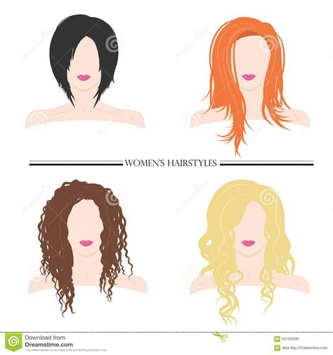 different types of haircuts using beijing women s hairstyles types of female hairstyles vector