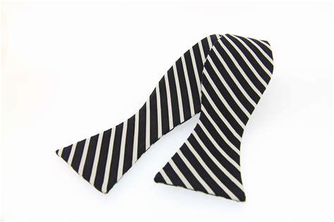 woven self black white striped country silk
