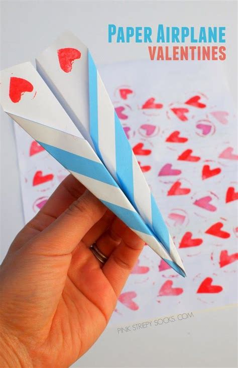 paper airplane crafts paper airplane valentines airplanes craft and craft