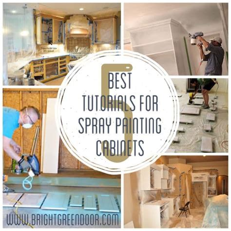 best tutorials for painting cabinets with a sprayer