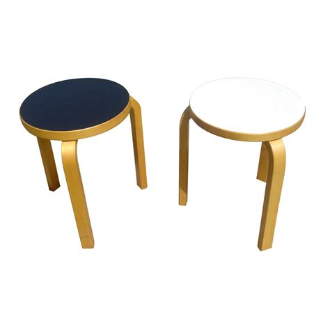 Bentwood Stacking Stools by 2 Alvar Aalto Artek Stacking Bentwood Side Table Stools