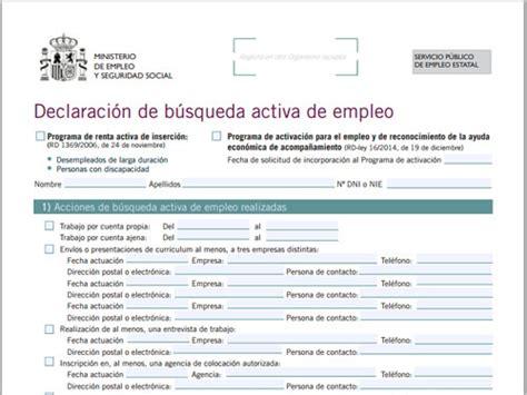 Modelo Curriculum Inem C 243 Mo Acreditar La B 250 Squeda Activa De Empleo