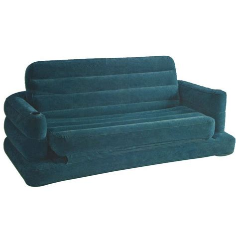blow up couch bed intex pull out inflatable sofa bed