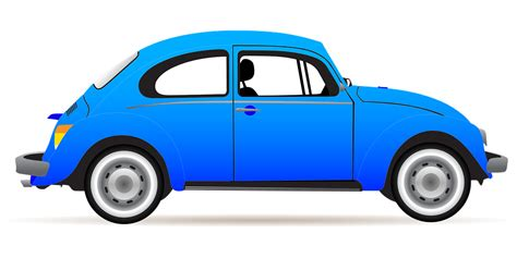 clipart automobili automobile beetle blue 183 free vector graphic on pixabay