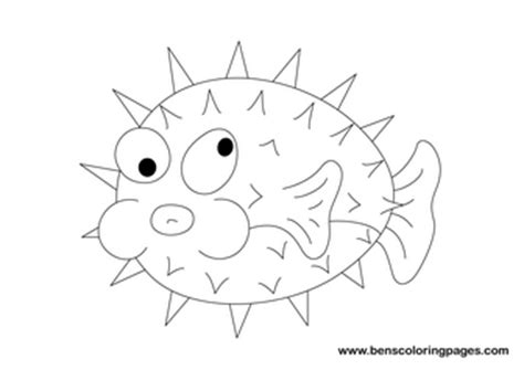 coloring pages puffer fish pufferfish coloring pages