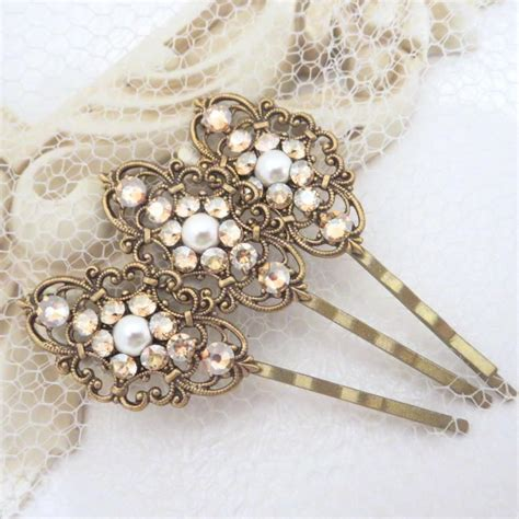 Vintage Bridal Hair Pins wedding hair pins bridal hair pins bobby pins swarovski