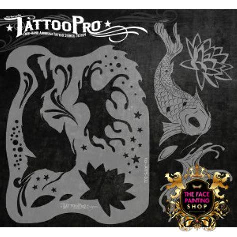 airbrush tattoo pro stencil koi