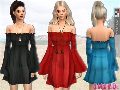 dresses sims 4 download boho dress by sims2fanbg at tsr 187 sims 4 updates