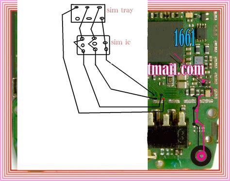 Connector Sim Card Nokia 1202 nokia 1202 insert sim if ic prints damage broken solution ways